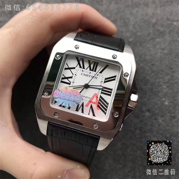 【V6厂超A】卡地亚山度士系列大号男士一比一复刻手表