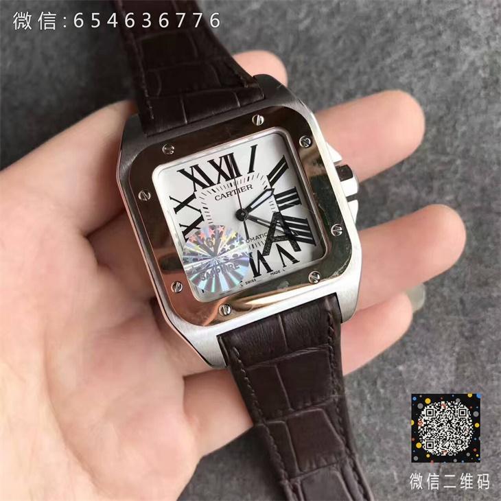 【V6厂超A】卡地亚山度士系列中号玫金圈一比一复刻手表