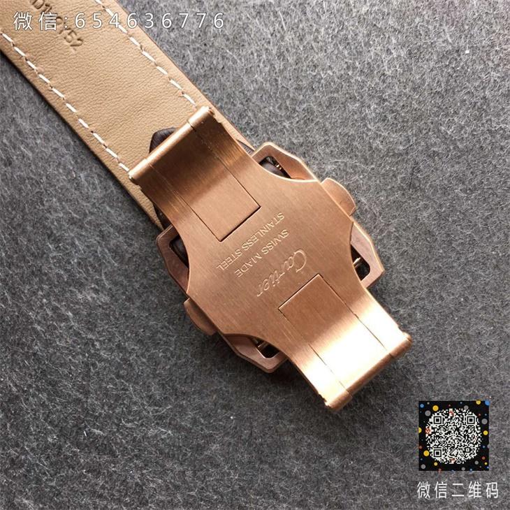 【V6厂超A】卡地亚山度士系列33毫米中号全玫金女士一比一复刻手表