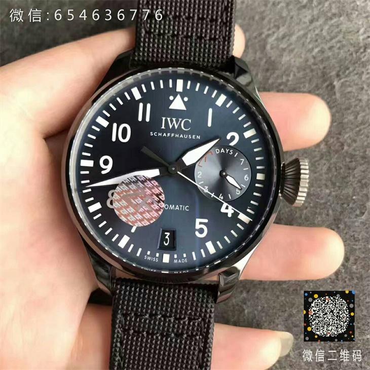 【ZF厂顶级版本】万国(IWC)飞行员系列陶瓷壳大飞蓝面IW502003男士一比一精仿手表