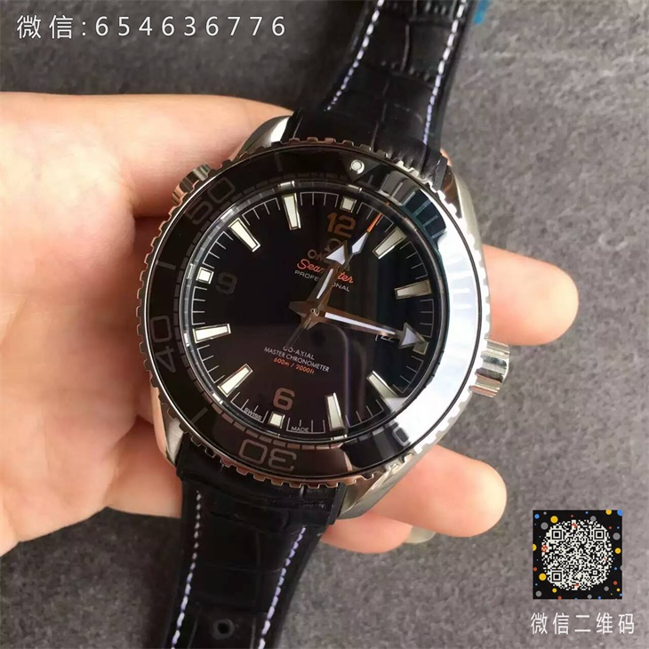 【JH厂超A】欧米茄(Omega)海马系列黑面钢带男士一比一自动机械精仿手表