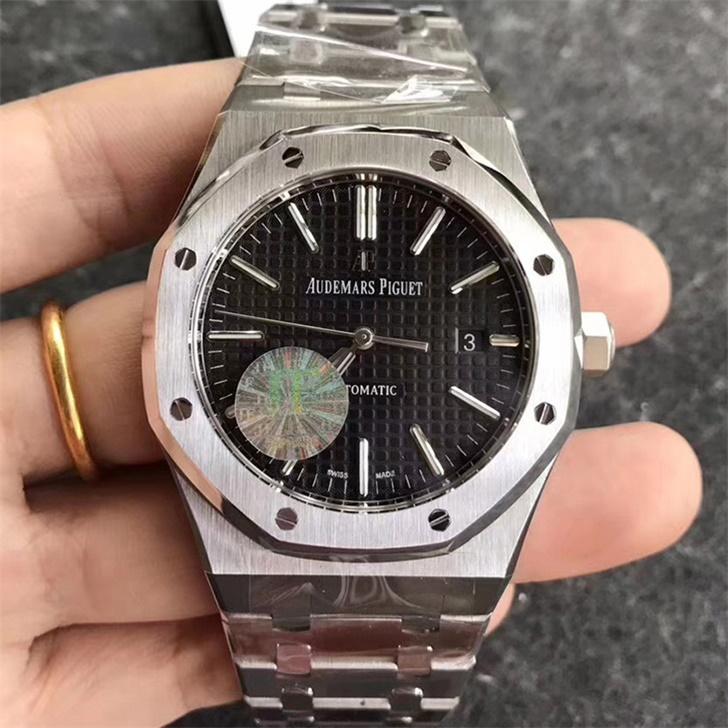 【JF厂】爱彼AP皇家橡树系列15400黑面钢带版精仿手表