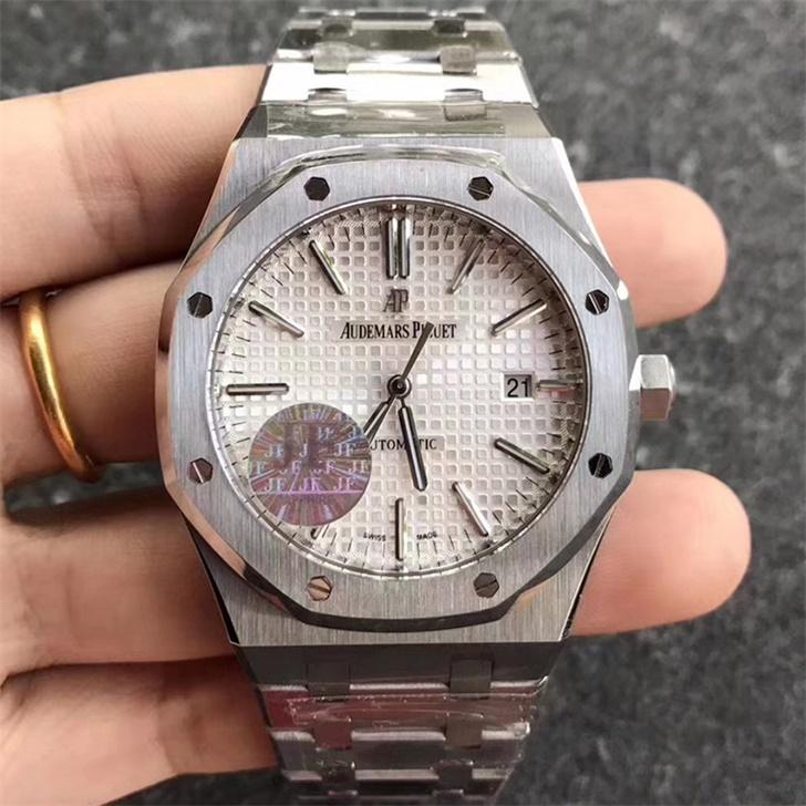 【JF厂】爱彼AP皇家橡树系列15400白面钢带版精仿手表