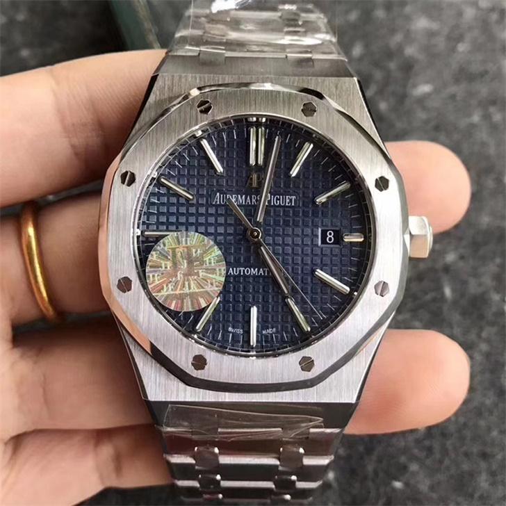 【JF厂】爱彼AP皇家橡树系列15400蓝面钢带版精仿手表