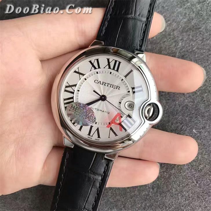 【V6廠】卡地亞(Cartier)藍氣球男款42毫米皮帶版最好版本W69016Z4復刻手表
