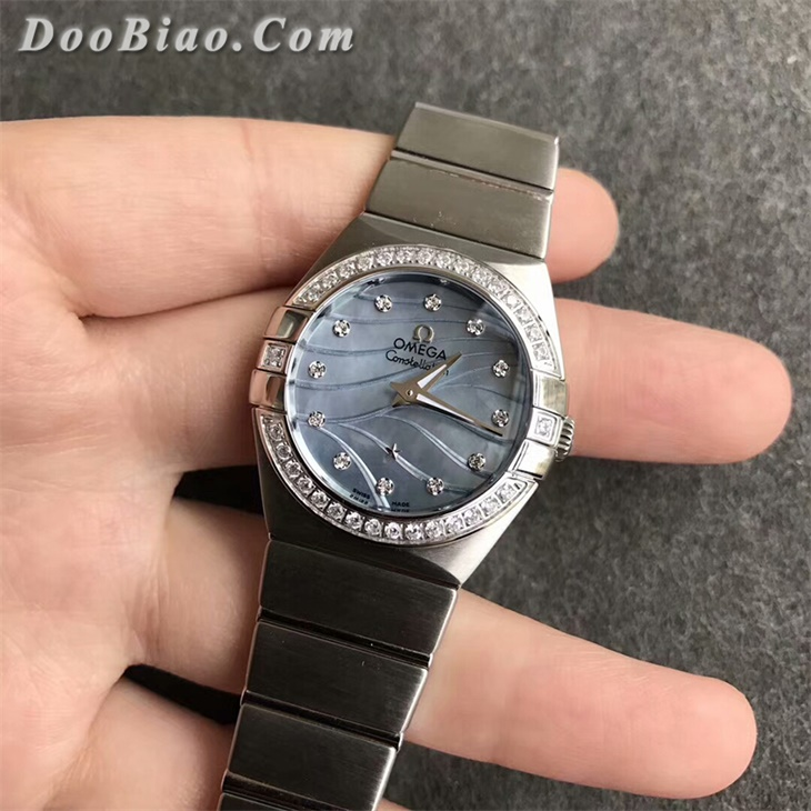 【SSS厂顶级复刻】欧米茄星座系列女士蓝面钻圈石英一比一复刻手表
