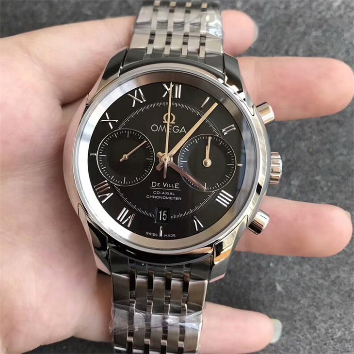 【OM厂超A】欧米茄碟飞计时系列黑面男士自动机械一比一复刻手表