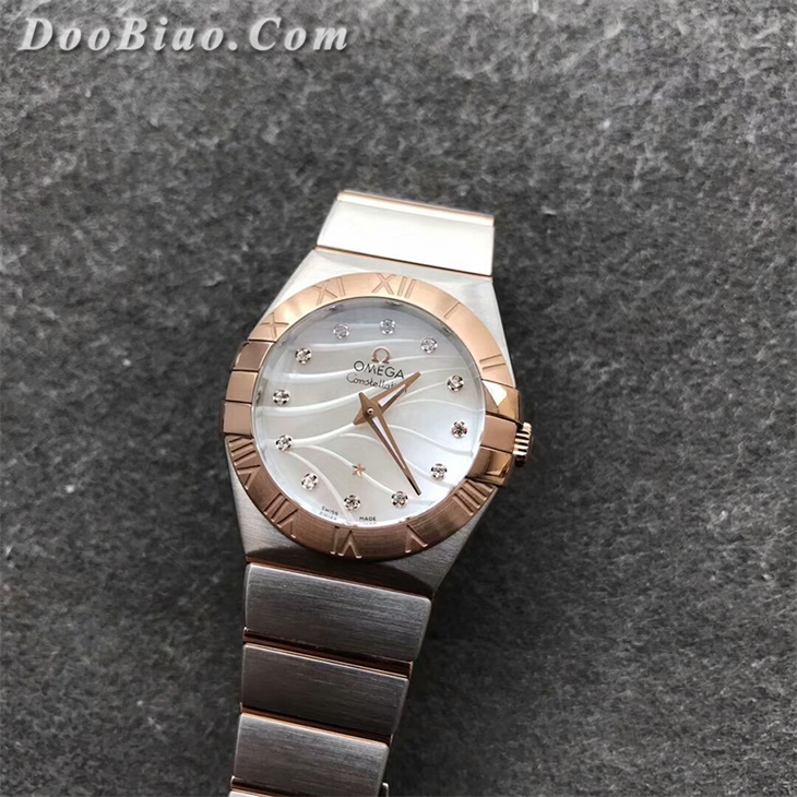 【SSS厂顶级复刻】欧米茄星座系列女士白面间金石英一比一复刻手表
