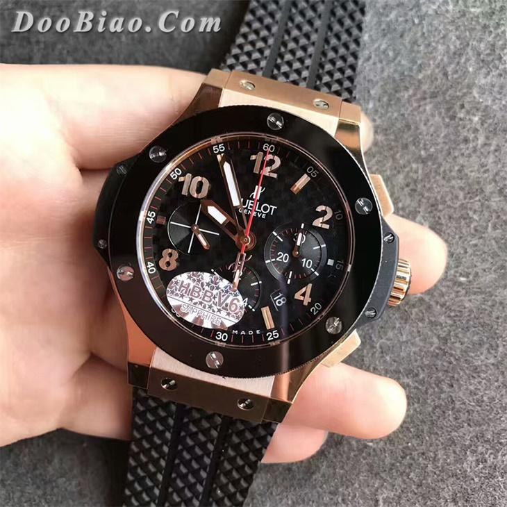 【V6厂超A】宇舶大爆炸系列计时码表陶瓷圈格纹面金壳301.PB.131.RX男士一比一复刻手表