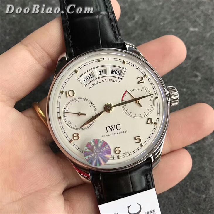 【YL厂超A】万国(IWC)系列白面金丁年历一比一复刻手表