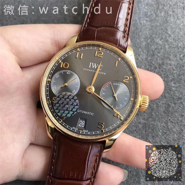 【ZF厂超A】万国(IWC)葡七黄金壳灰面一比一精仿手表