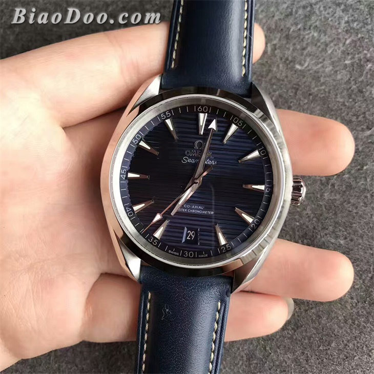 【XF厂】欧米茄海马AQUA TERRA 150M横纹蓝面男士自动机械一比一复刻手表