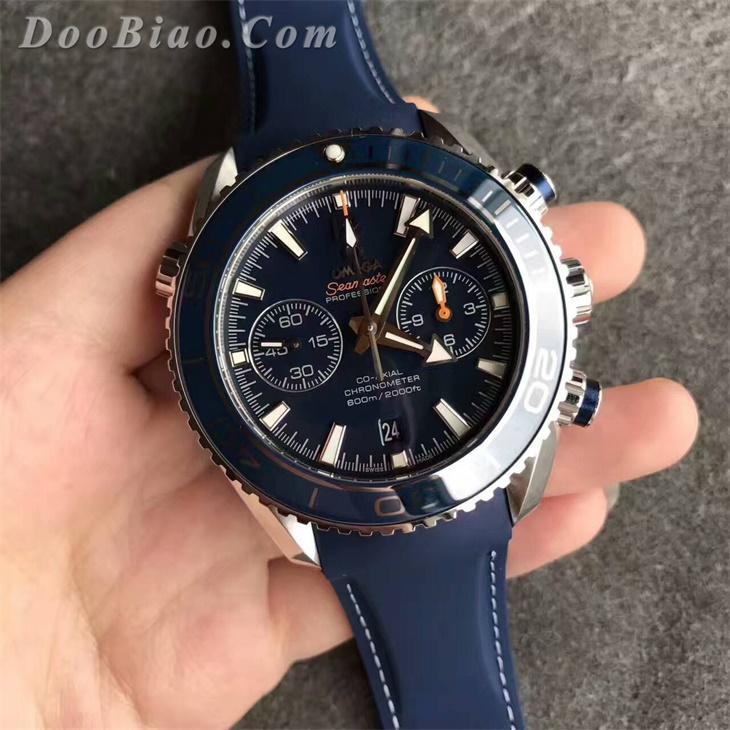 欧米茄海马系列600M蓝面232.92.46.51.03.001男士一比一高仿手表