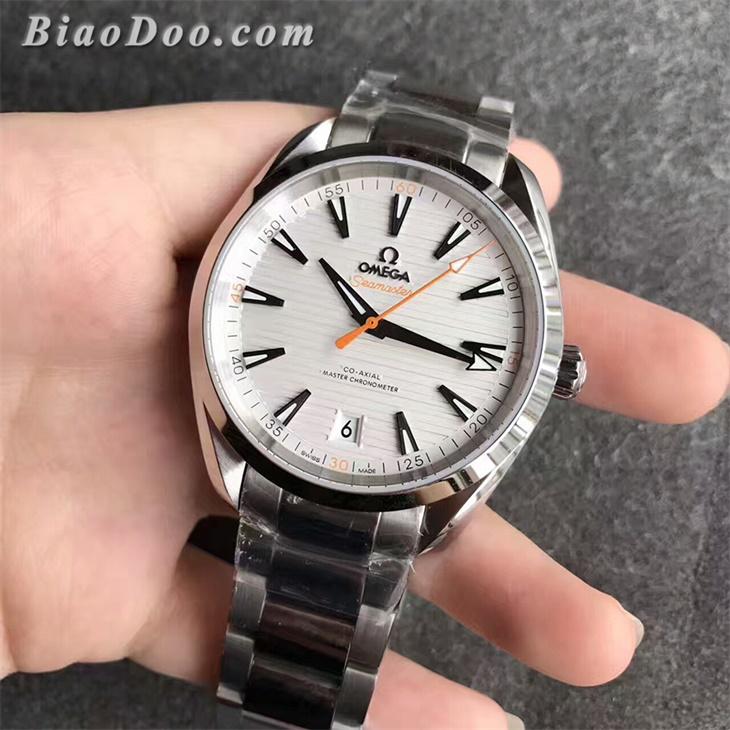 【XF厂】欧米茄海马AQUA TERRA 150M横纹白面男士自动机械一比一复刻手表