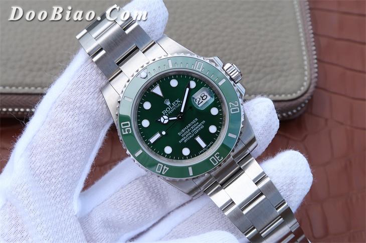 【N厂】劳力士(Rolex)绿水鬼绿鬼V7版SUB潜航者系列116610LV男士自动机械一比一精仿手表