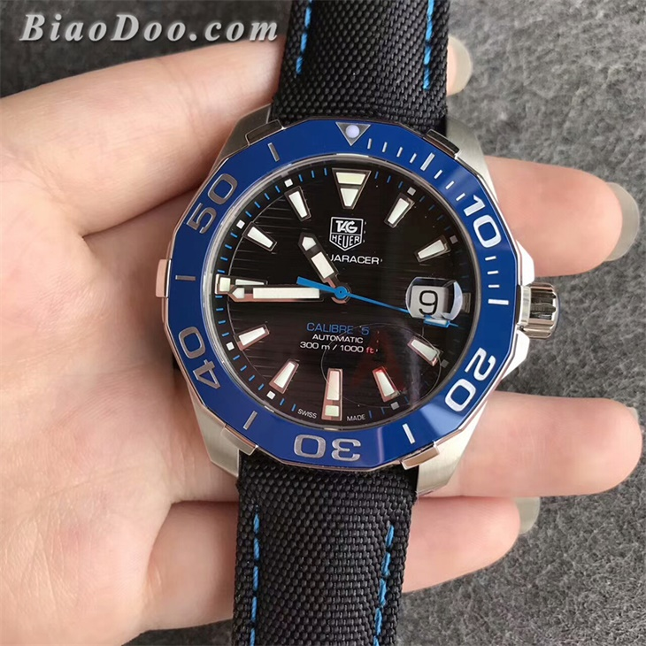 【V6厂】泰格豪雅(TAG Heuer)竞潜系列300M骚蓝圈一比一精仿手表