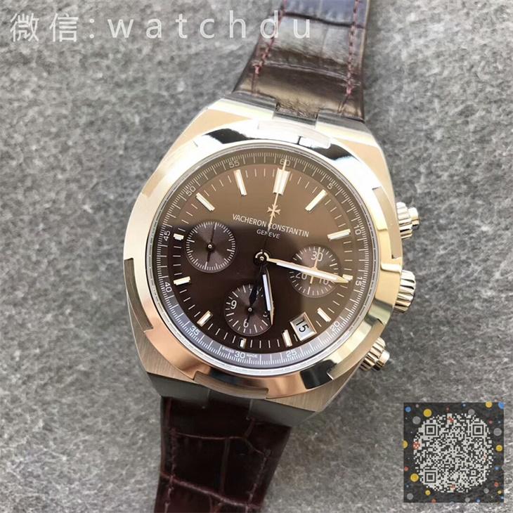 【8F厂】江诗丹顿VC纵横四海计时系列咖面皮带版一比一精仿手表